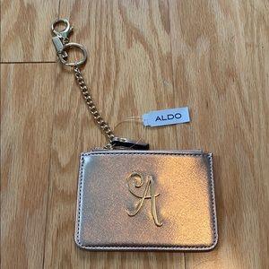 NWT Aldo A monogram coin purse